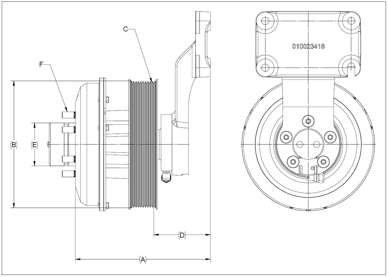 010026230 K32 Rear Air Fan Drive Assembly