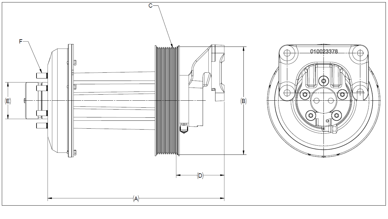 010026232 K32 Rear Air Fan Drive Assembly