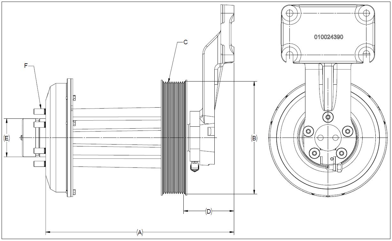 010026236 K32 Rear Air Fan Drive Assembly
