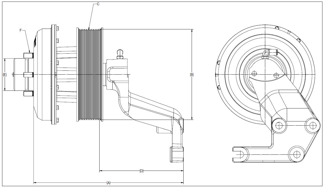 010026258 K32 Rear Air Fan Drive Assembly
