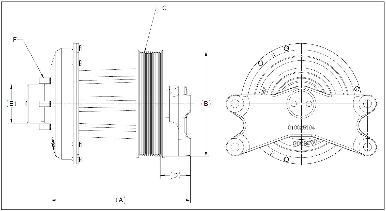 010026415 K30 Rear Air Fan Drive Assembly