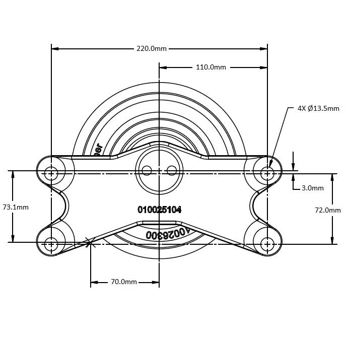 010026418 Engine Cooling Fan Hub