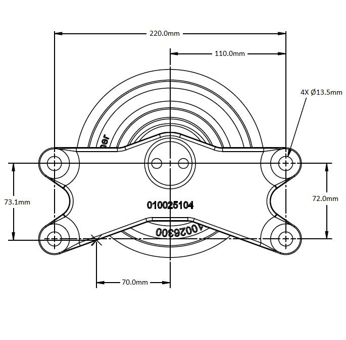 010026419 Engine Cooling Fan Hub