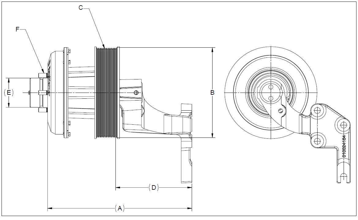 010026448 K32 Rear Air Fan Drive Assembly