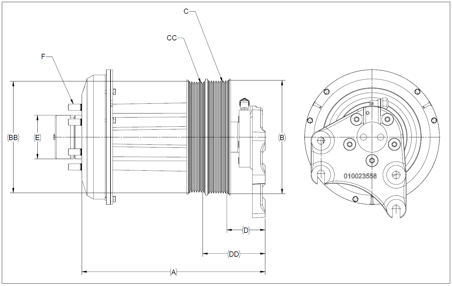010026513 K32 Rear Air Fan Drive Assembly