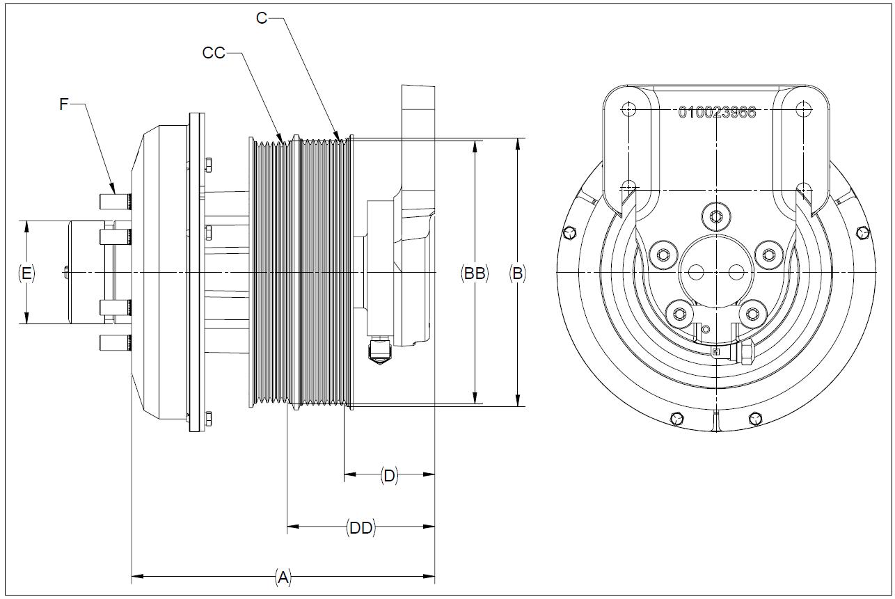 010026515 K32 Rear Air Fan Drive Assembly