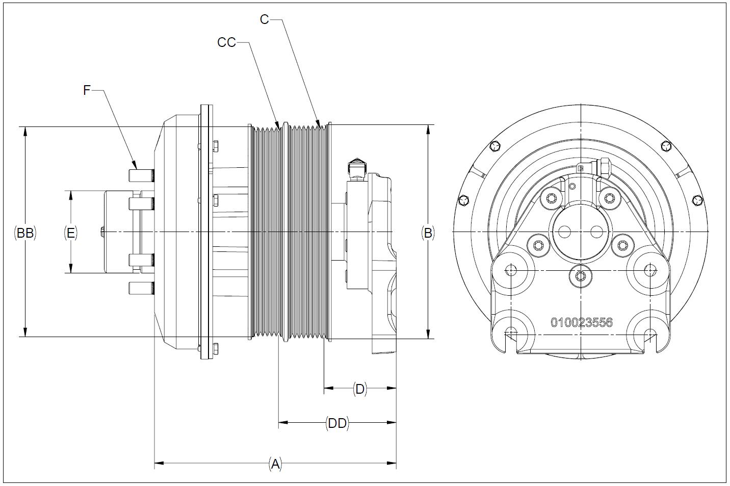 010026516 K32 Rear Air Fan Drive Assembly