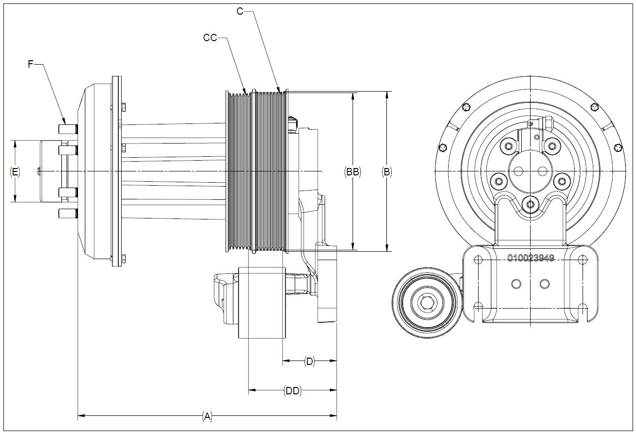 010026519 K32 Rear Air Fan Drive Assembly
