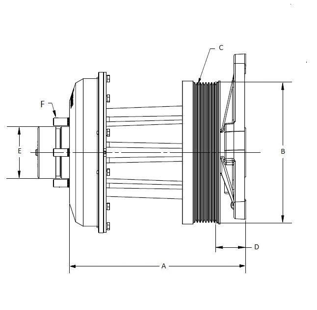 010028418 K32 Rear Air Fan Drive Assembly