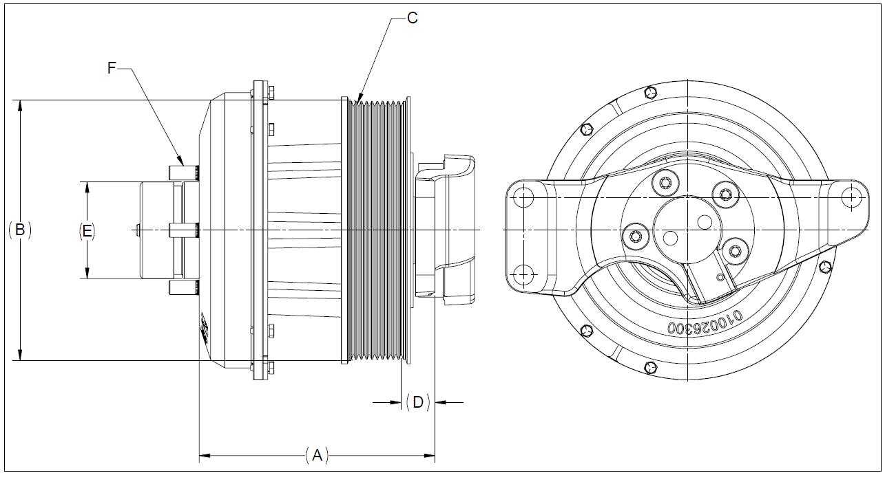 010028885 K32 Rear Air Fan Drive Assembly