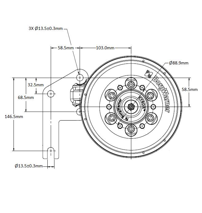 010032431 K30 Rear Air Fan Drive Assembly