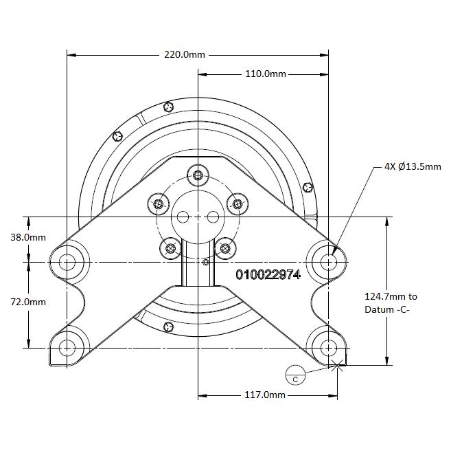 010032433 K30 Rear Air Fan Drive Assembly
