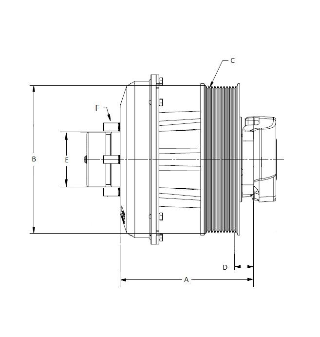 010032447 K30 Rear Air Fan Drive Assembly