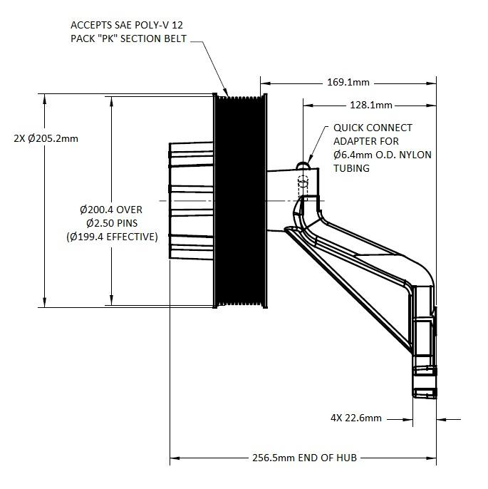 1077-09277-01 Engine Cooling Fan Hub